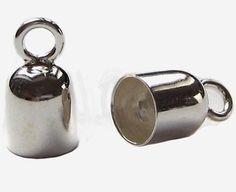Endkappen 2 Stück Ø 5 mm innen 925 Silber - 4,10 +1,95 € Versand//Schmuckzubehör Endhülsen Kappen | eBay