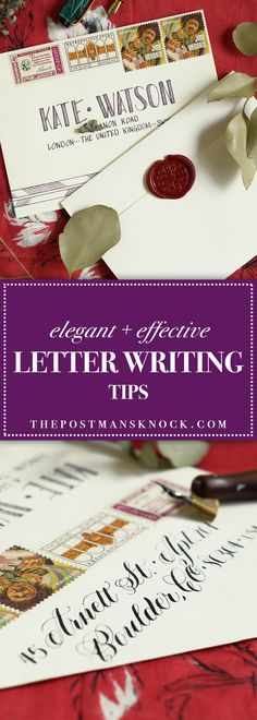 Inspiration for elegant letters that are fun to write and to receive! #snailmailrevolution