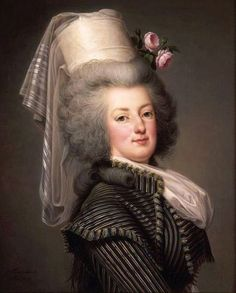 Marie Antoinette, Queen Of France, In A Hunting Dress, by Adolf Ulrich Wertmuller (1751-1811)