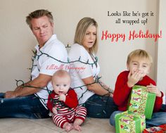 Creative idea for Christmas cards Elli-Belle Photography - all tied up