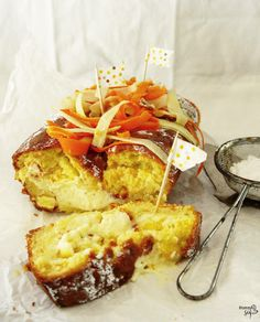 ACE-Kuchen mit Pudding gefüllt, Apfel&Karotte&Orange // Apple-carrot-orange cake (vitamins ace), filled with vanilla pudding *Hummelsüß*