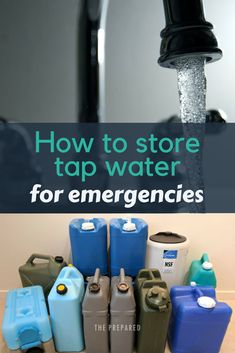 Best short term emergency water storage - Emergency Water Storage - You don't need chemical water preservers when storing tap water for emergencies, and you don't - Survival Supplies, Emergency Supplies, Survival Food, Camping Survival, Survival Prepping, Survival Skills, Survival Quotes, Emergency Planning, Doomsday Prepping
