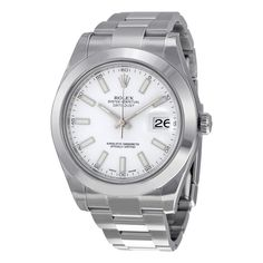 Rolex Datejust II White Dial Stainless Steel Rolex Oyster Automatic Men's Watch 116300WSO