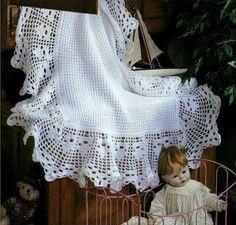 CROCHET PATTERN Heirloom Baby Afghan//Blanket/Shawl by carolrosa
