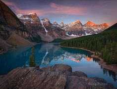 Moraine Lake Sunrise by Chip Phillips