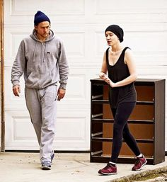 Charlie Hunnam and girlfriend,