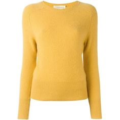 Zanone round neck jumper (755 PLN) ❤ liked on Polyvore featuring tops, sweaters, yellow jumper, round neck top, jumpers sweaters, yellow sweater and jumper tops