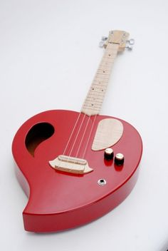 The Heart tenor / baritone ukulele by CELENTANOWOODWORKS @Etsy