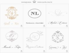 monogram scards