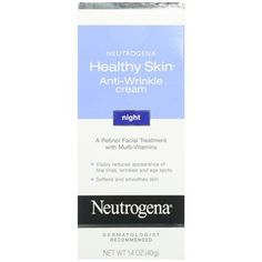 Neutrogena - Healthy Skin Night Cream: 4 star Beautipedia rating, good fragrance free moisturizer with retinol, not bad for drugstore price!