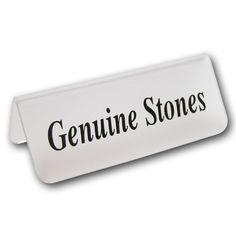 """Acrylic """"Genuine Stones"""" Sign"""
