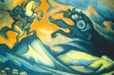 Fight - Nicholas Roerich  1928