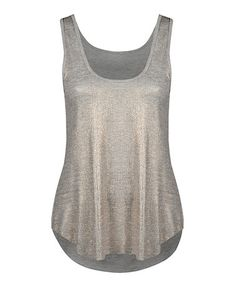 Look what I found on #zulily! Silver Shimmer Tank by Dex #zulilyfinds
