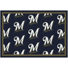 "Milwaukee Brewers 10'9"" x 13'2"" Repeating Rug - $859.00"
