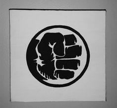 Un conjunto de 4 minimalista superhéroe mano por ShinyShoesnDecor