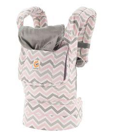 HALF OFF!! ergobaby ergo baby carrier Pink & Gray Chevron Original Carrier #zulily // baby wearing
