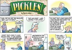 'Pickles' comic strip by Brian Crane, April 15, 2012      ...HIdden Chocolate...