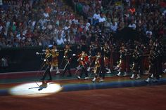 The Pipes and Drums of the Scottish Regiments made an appearance at the opening ceremony for the 2014 Commonwealth Games.
