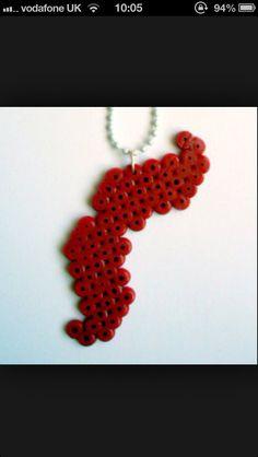 #hama beads #moustache