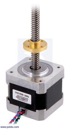 1000 images about arduino stepper motor on pinterest for Threaded shaft stepper motor