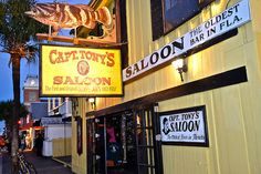 Have you Ever Wondered Which are the Best Bars in Key West? Captain Tony's Saloon is one of them. Find out why: http://travelexperta.com/2014/05/best-bars-in-key-west.html #florida #restaurantreview