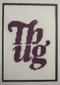 Thug Cross Stitch Pattern by LaughingStitchesByC on Etsy, $3.50