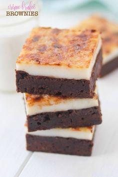 Créme Bruleé Brownies | confessionsofacookbookqueen.com | Bloglovin'