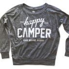 Camp Brand Goods — HAPPY CAMPER SLOUCHY PULLOVER | ECO GREY | Keep.com