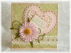 I would pull down the heart a little and tuck the message into the top of the heart.  Love the colors