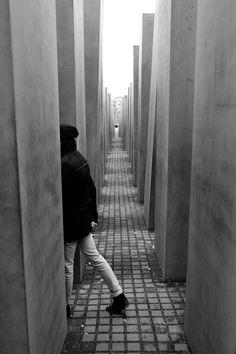 Holocaust monument. Peter Eisenman. Mitte, Berlin.