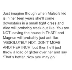 I think this is really funny, although I don't think Magnus would approve of their daughter going out in a small, tight dress.