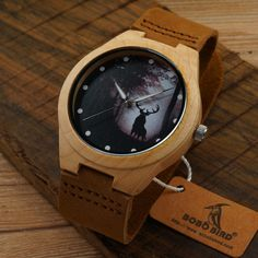 Forest Face Bamboo Watch