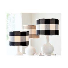lamp shade | ballard | cotton | check, plaid | black, white | $70-90