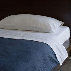 Indigo Navy Blue Pure Italian Linen Duvet Cover