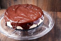 Chocolate-Covered Strawberry Cheesecake on Savvy Eats---Try with CHERRY jam instead