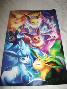 Beautiful Eeveelutions print bought at Comic Con - Imgur