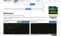 Learn PHP nos ofrece un excelente tutorial interactivo, en línea y gratuito, para aprender las bases de la programación en el lenguajes PHP.