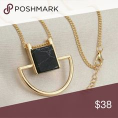 18K GPMarble Patterns Necklace 18K Gold Plated Marble Patterns Pendant Necklace Jewelry Necklaces