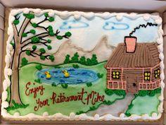 Retirement cake.