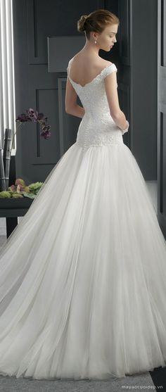 váy cưới trễ vai - Tìm với Google