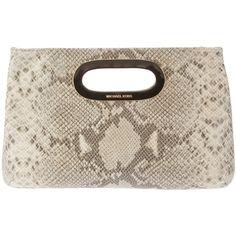 MICHAEL KORS snakeskin print bag ($295) ❤ liked on Polyvore,CHEAP DISCOUNT MICHAEL KORS BAGS ON SALE