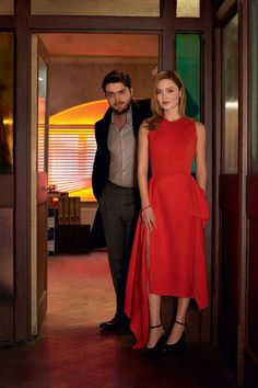 In Vogue: Tom Burke And Holliday Grainger On Strike Tom Burke Actor, Tom Burke Cormoran Strike, Holiday Grainger, Robin, Bbc Musketeers, Vogue Photo, Upcoming Series, Actor Model, Lady In Red