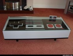 Nintendo Controller Coffee Table--we currently do not have a coffee table...so this would be perfect to hold all our treats as we play games, watch movies, enjoy our home!
