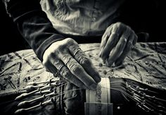 Lacemaker's hands