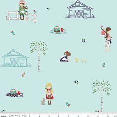 SALE 1/2 yard Country Girls by Tasha Noel for Riley by Sewforasong