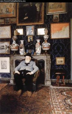 James Ensor in his studio