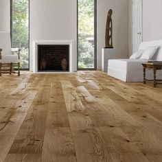 Barlinek Oak Excite is an extra wide engineered plank floor with a honey coloured, brushed natural oil finish. This floor looks like its been down a long time, providing instant character to your home. Real Wood Floors, Solid Wood Flooring, Engineered Wood Floors, Hardwood Floors, Flooring Cost, Luxury Flooring, Plank Flooring, Linoleum Flooring, Cafe Interior