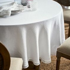 8 best round linen tablecloths images round linen tablecloths rh pinterest com
