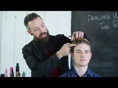 Best Haircut and Styling Tips For Men With Receding Hairline Video - Uñas Coffing Maquillaje Peinados Tutoriales de cabello Trending Haircuts, Cool Haircuts, Haircuts For Men, Cool Hairstyles, Men's Haircuts, Front Hair Styles, Mens Hair Trends, Heart Hair, Beard Styles For Men