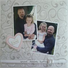 wedding scrapbooking  | Wedding Layout - Special Moments